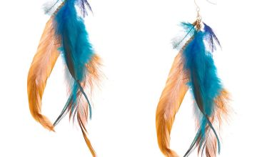 "Go to Product: 5"" Elemental Feather Drop Earrings"
