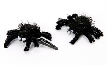 Go to Product: Fuzzy Spider Snap Hair Clips - Black, 2 Pack