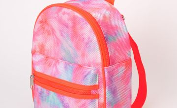 Go to Product: Mesh Neon Tie Dye Small Backpack - Coral