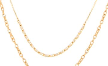 Go to Product: Gold Pearl Double Chain Statement Necklace