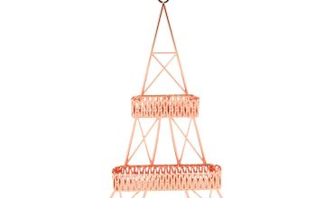 Go to Product: Eiffel Tower Wall Hanging Jewellery Holder - Rose Gold