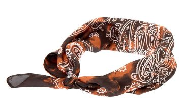 Go to Product: Tie Dye Paisley Knotted Bandana Headwrap - Brown