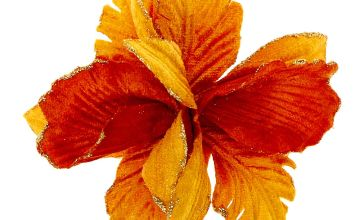 Go to Product: Velvet Glitter Flower Hair Clip - Mustard