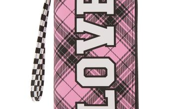 Go to Product: Love Plaid & Checkered Wristlet - Pink