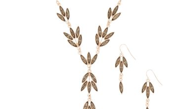Go to Product: Rose Gold Leaf Jewellery Set - Grey, 2 Pack