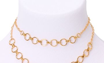 Go to Product: Gold Double Chain Link Choker Necklace