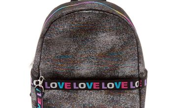 Go to Product: Rainbow Lurex Love Medium Backpack - Black