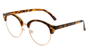 Go to Product: Rose Gold Tortoiseshell Browline Clear Lens Frames