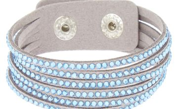 Go to Product: Studded Layered Wrap Bracelet - Blue