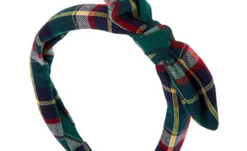 Go to Product: Green Plaid Knotted Bow Headband