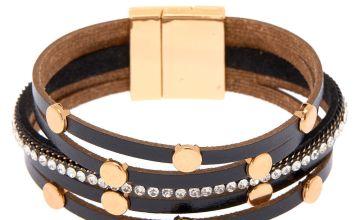 Go to Product: Gold Layered Wrap Bracelet - Black