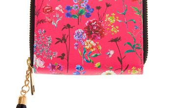 Go to Product: Floral Mini Zip Wallet - Pink