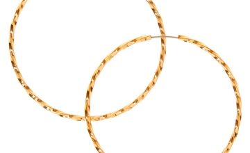 Go to Product: Gold 40MM Twist Hoop Earrings