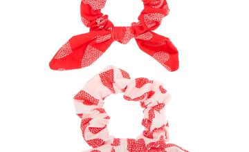 Go to Product: Heart Knotted Bow Hair Scrunchies - 2 Pack