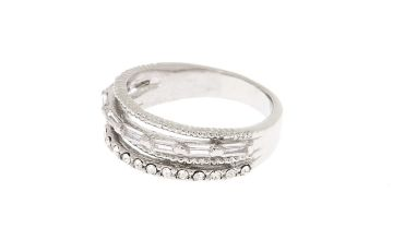 Go to Product: Silver Cubic Zirconia Stacked Ring