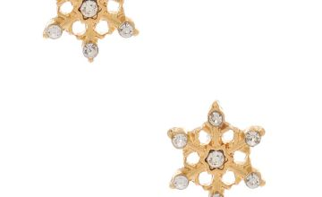 Go to Product: 18kt Gold Plated Frosted Snowflake Stud Earrings