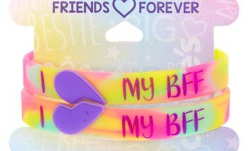 Go to Product: Tie Dye I Heart My BFF Friendship Bracelets - 2 Pack