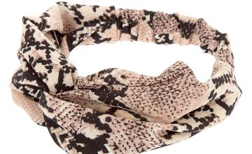 Go to Product: Snakeskin Twisted Headwrap - Blush
