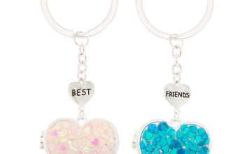 Go to Product: Best Friends Open Heart Locket Keychains - 2 Pack