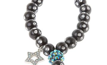 Go to Product: Fireball Star Beaded Stretch Bracelet - Black