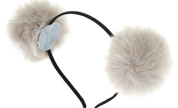 Go to Product: Pom Pom Cat Ears Headband - Grey