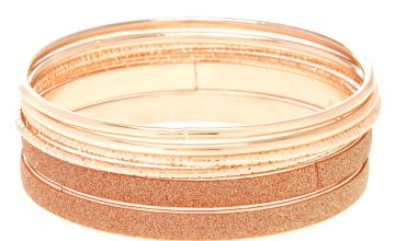 Go to Product: Rose Gold Mixed Bangle Bracelets - 6 Pack