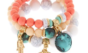 Go to Product: Gold Hamsa Tree Beaded Stretch Bracelets - 3 Pack