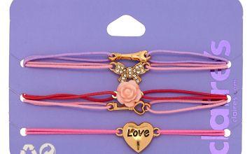 Go to Product: Romantic Paris Love Stretch Bracelets - Pink, 5 Pack