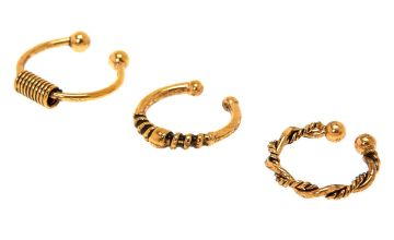 Go to Product: Gold Burnt Bali Faux Hoop Nose Rings - 3 Pack