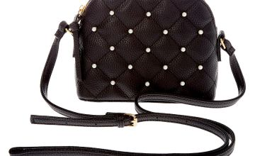 Go to Product: Quilted Pearl Crossbody Bag - Black