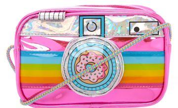 Go to Product: Neon Rainbow Camera Crossbody Bag