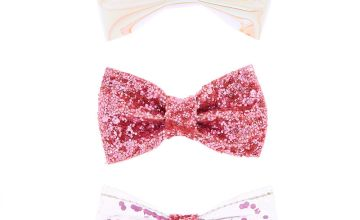 Go to Product: Glitter Holographic Bow Hair Clips - Pink, 3 Pack