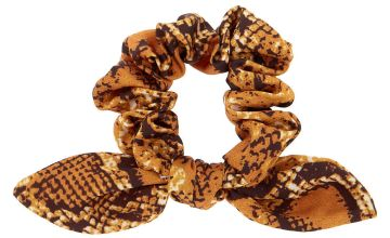 Go to Product: Snakeskin Knotted Bow Hair Scrunchie - Yellow