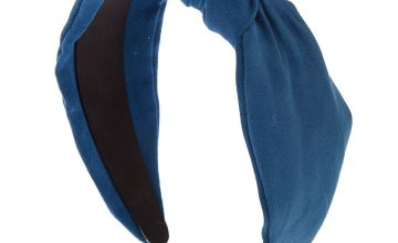 Go to Product: Knotted Suede Headband - Blue