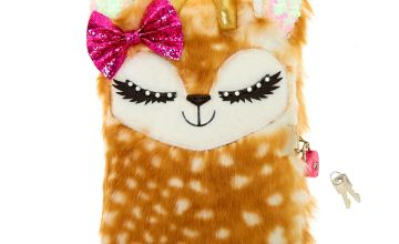 Go to Product: Ginger the Deer Plush Lock Diary - Brown