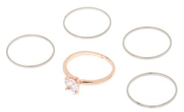 Go to Product: Mixed Metal Cubic Zirconia Rings - 5 Pack