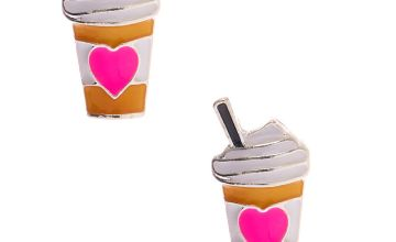 Go to Product: Silver Frappuccino Heart Stud Earrings