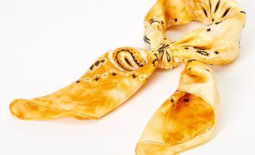 Go to Product: Silky Tie Dye Bandana Headwrap - Yellow