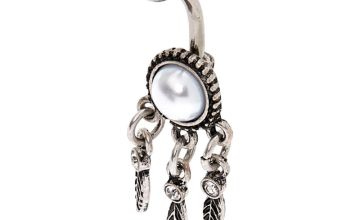 Go to Product: Silver 14G Pearl Dreamcatcher Belly Ring