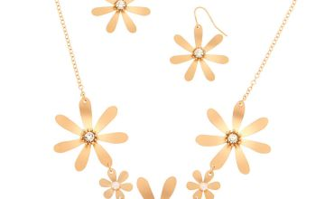 Go to Product: Brushed Gold Floral Jewellery Set - 2 Pack