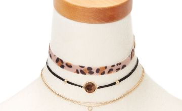 Go to Product: Leopard Choker Necklaces - 3 Pack