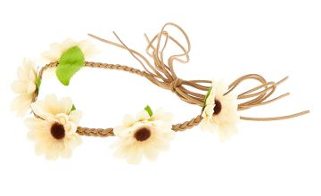 Go to Product: Daisy Braided Flower Crown Headwrap - Yellow
