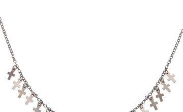 Go to Product: Hematite Mini Cross Statement Necklace