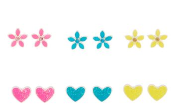 Go to Product: Neon Hearts Stud Earrings - 9 Pack