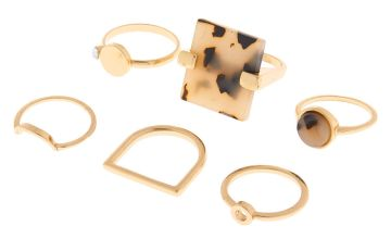 Go to Product: Gold Resin Tortoiseshell Rings - 6 Pack