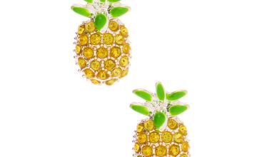 Go to Product: Embellished Pineapple Stud Earrings - Yellow