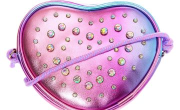 Go to Product: Embellished Ombre Heart Crossbody Bag - Purple