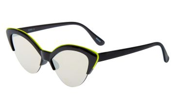 Go to Product: Neon Browline Cat Eye Sunglasses - Black