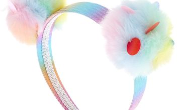 Go to Product: Rainbow Sequin Pastel Pom Headband