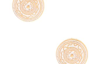 Go to Product: Gold Circle Stud Earrings - White